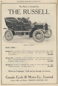 Advertisement for the Russell Motor Car