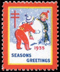 Colourful Christmas Seal from 1935